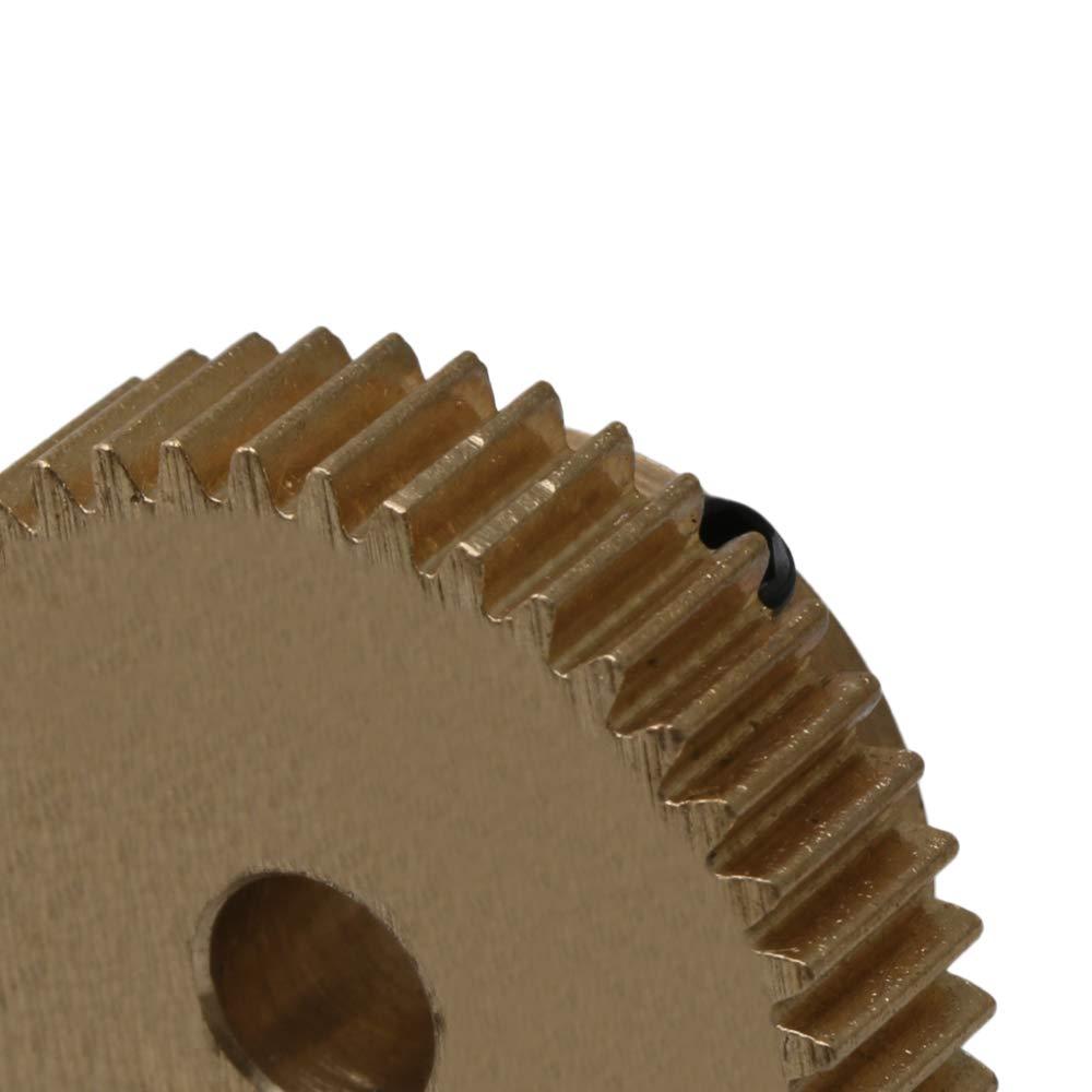 Mxfans Golden 5mm Hole Dia Copper 0.5 Modulus 43T Motor Wheel Gear 22.5x10mm