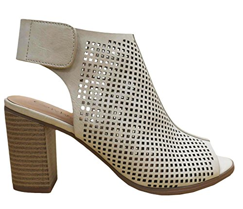 Laser Heel Select Pump Bootie Slingback Cambridge Stacked Cement Cut Womens WwgHxCq4