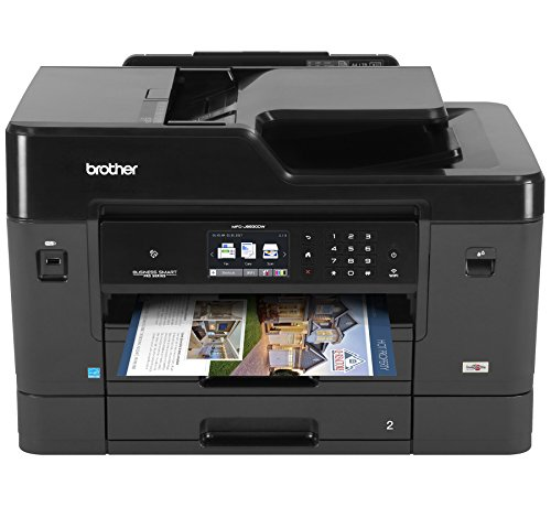 Brother Printer MFCJ6930DW Wireless Color Inkjet Printer with Scanner, Copier & Fax, Amazon Dash Replenishment Enabled (Printer Desktop Copiers)
