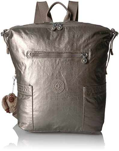 Kipling Women's Cherry Metallic Backpack, Metallic Pewter (Metallic Cherry)