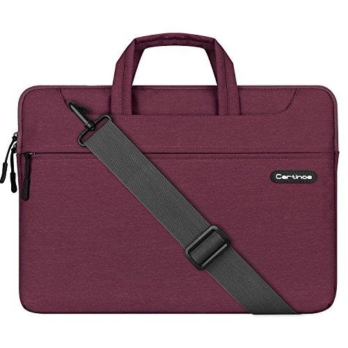 Cartinoe Laptop Shoulder Bag 11 inch, 11.6 inch Laptop Briefcase Tablet Protective Bag Water Repellent Computer Sleeve Case Messenger Bag for Business/College/ Women/Men, Purple by Cartinoe