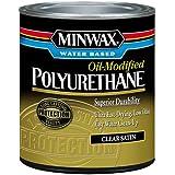 Minwax 230254444 Minwax Water Based Oil-Modified Polyurethane, 1/2 Pint, Satin