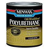 Minwax 230254444 Minwax Water Based Oil-Modified Polyurethane, 1/2 Pint, Satin