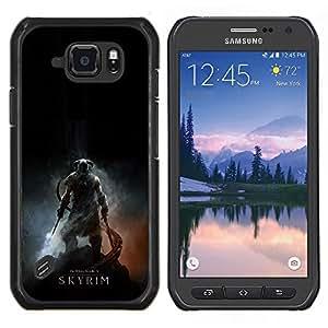 LECELL--Funda protectora / Cubierta / Piel For Samsung Galaxy S6Active Active G890A -- Skyrim --