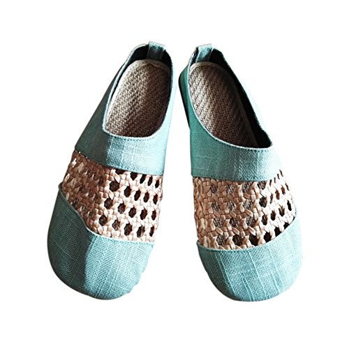 Meijunter Blue Shoes Slip Chinese on Linen skid Sandals Anti Shoes Flats Hollow Cotton Boat Oqr1wnvO