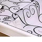 XKQWAN soft glass Pvc table cloth waterproof Burn-proof Plastic tablecloths Dining desk mats Tea table mats Transparent pad Crystal table cloth-G 40x60cm(15.7x23.6inch)