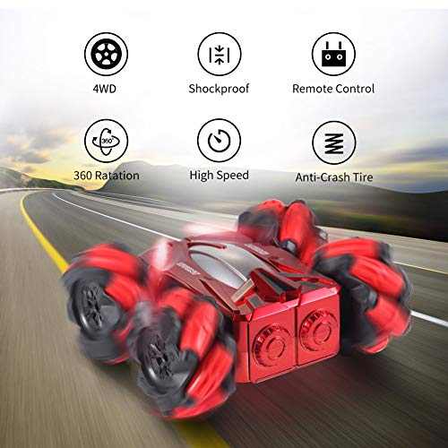 OMWay Remote Control Car for Boys 8-12, Easter Birthday Gifts Toys for 4 5 6 7 8 Year Old Boys Girls, RC Lateral Side…