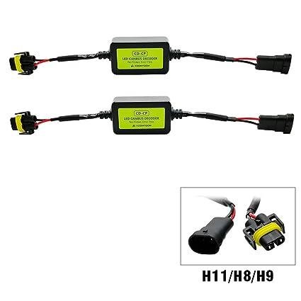 KOOMTOOM - Decodificador de luz LED H11 Canbus, arnés H8 H11 anti ...