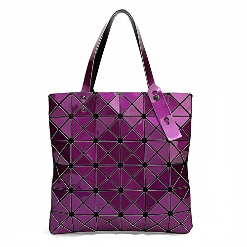 Bag Female Folded Geometric Plaid Bag Fashion Casual - Kathy Van Zeeland Purses Purple
