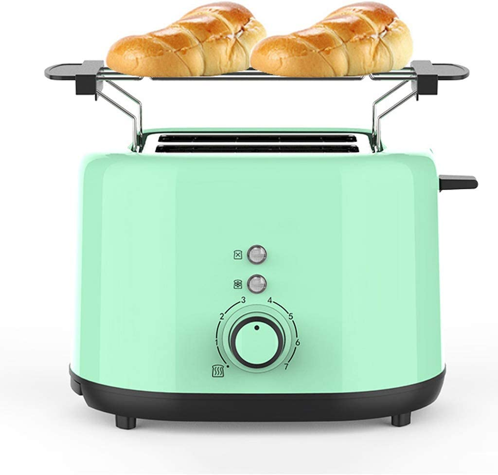 Multifunctional Breakfast Machine 2 Slice Toaster 7 Gear Baking Adjustment,Extra Wide Slots,Thaw/Reheat/Cancel Function With Grill And Dust Cover,1000w
