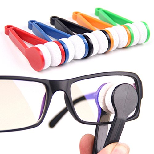 Sunglasses Glasses Eyeglasses Microfiber Brush Cleaner (Best Generic Eye Glass Cleaners)