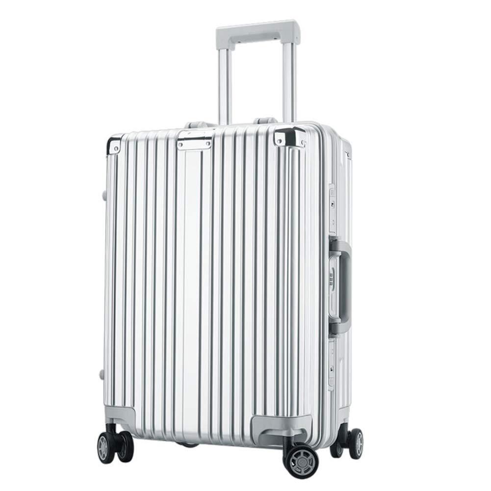 トロリースーツケース、スタイリッシュな防水性と耐圧性360°ミュートキャスター荷物(銀) B07Q4BQPMF  43*31*67CM