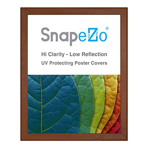 (SnapeZo Poster Frame 36x48 Inches, Dark Wood Effect 1.25 Inch Aluminum Profile, Front-Loading Snap Frame, Wall Mounting, Professional Series)
