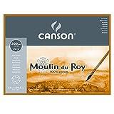 """Canson Moulin Du Roy Watercolor Block 9"""" x 12"""" Rough 140 lb./300gsm, 20 Shts./Block"""