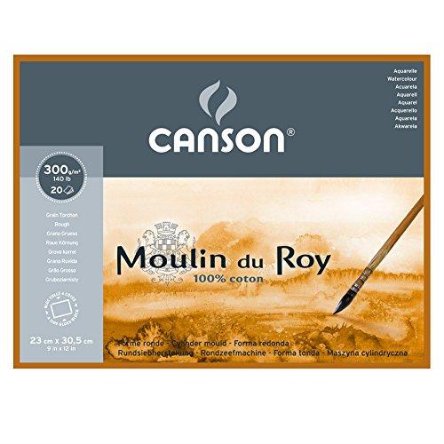 Canson C400014797 Moulin du Roy MOULINDUROY 140 R 9X12 BLOCK
