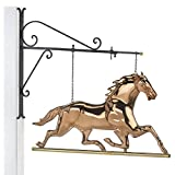 Good Directions Horse Copper Hanging Wall Sculpture – Traditional Home Décor