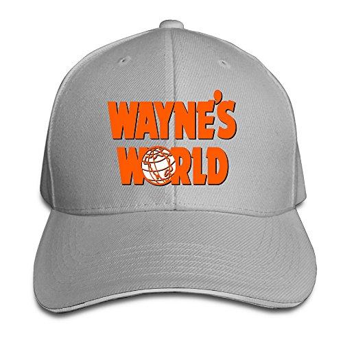 Snl Garth Algar Wig (Boomy Wayne's World Sandwich Cap Hat Ash)