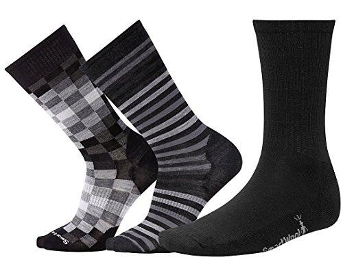 Smartwool Casual Rib Socks (Smartwool Men's Trio 2 (Multi Color) Large)