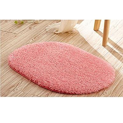 "Ladaidra Bath Mat, Non Slip Bottom Soft Comfortable Washable Cushion, 19.69"" x 11.81"", Pink"