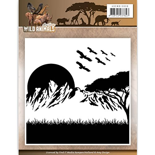 Amy design Wild Animals Embossing Folder ADEMB10006