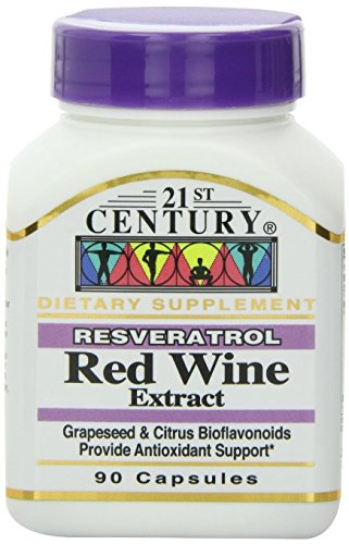21st Century Resveratrol Red Wine Extract Capsules 90-Count Pack of 5 Discount