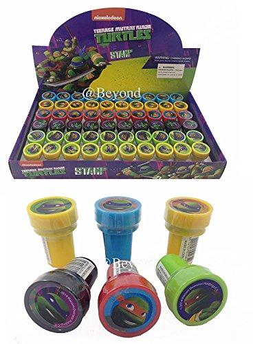 New! (60ct) Teenage Mutant Ninja Turtles Tmnt Stamps Stampers Self-inking Party Favors- Full (Ninja Party Favor Box)