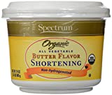 Spectrum Organic All Vegetable Butter Flavor Shortening -- 24 oz