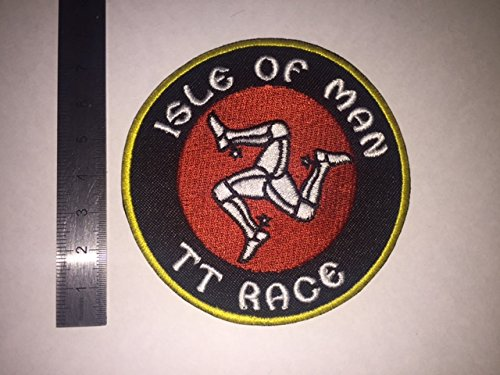 ECUSSON PATCHES AUFNAHER TOPPA - ISLE OF MAN TT RACE - THERMOCOLLANT BLUE HAWAI