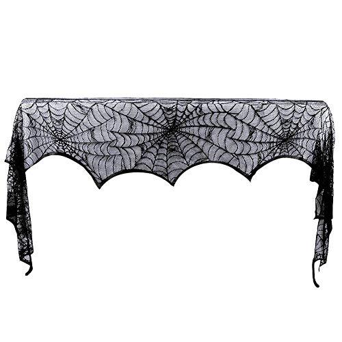 "Cheap  18""x 96""Halloween Spider Web Decoration Valance Cobweb Mantel Fireplace Scarf Door Window.."