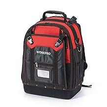 WORKPRO Tool Backpack Tradesman Organizer Bag 37 Pockets