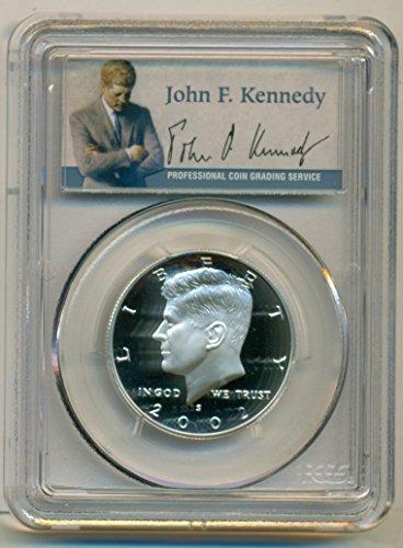 2002 S Kennedy Silver Portrait Label Proof Half Dollar PR70 DCAM PCGS