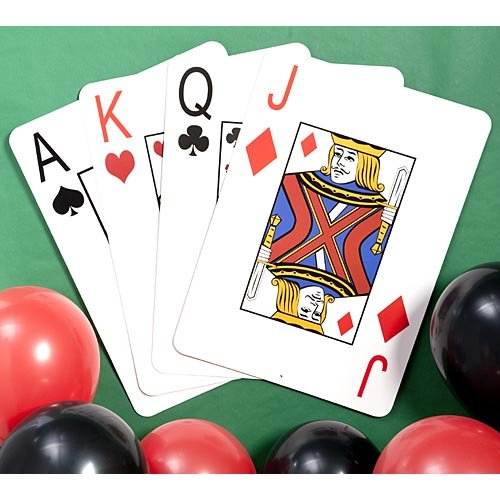 Giant Playing Cards Set of 4 by Shindigz