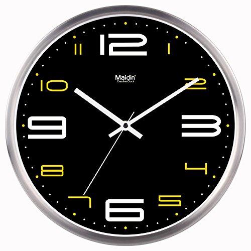 BABYQUEEN 10 Inch Wall Clock living room modern art creative clock mute stylish cool quartz clocks General Edition Silver