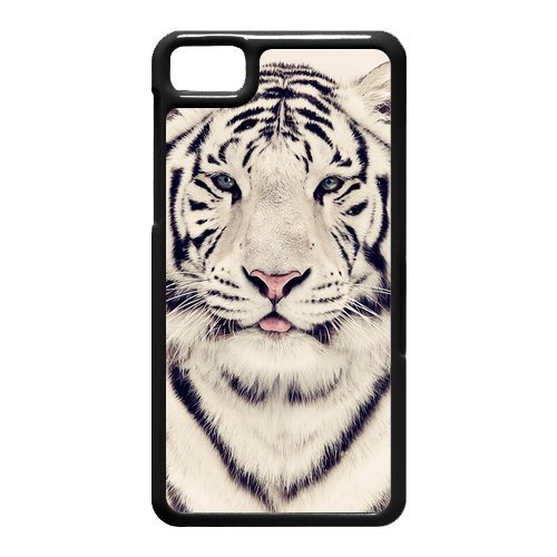 White Tiger Cute Tongue Design Best Sellers Hot Custom Luxury Cover Case For BlackBerry Z10(Black) with Best Silicon Rubber
