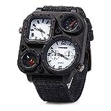 Auntwhale Cowboy Strap Watch Multifunction Watch Military Men's Wrist Watch Calendar Wrist Watch Outdoor Watch