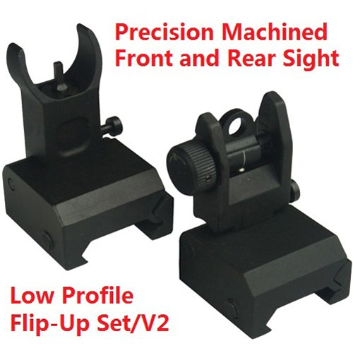 Trinity Force Tactical Flip Up Iron Sight Rear/Front Sight Mount - Metal Rear Sight