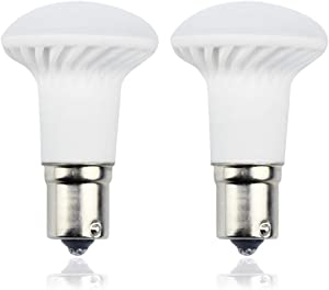 Bonlux 1383 R12 LED Elevator Light Bulb - AC/DC 12V-24V 1156 Single Contact BA15S Long Neck Reading Bulbs - 3W (25W Incandescent Equivalent) Warm White for RV Trailer Marine Boat Light (2-Pack)