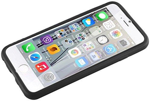 Apple iPhone 6s 6 Case, Fone-Stuff® - couverture de peau de gel de silicone Full Body avec See Through Protector Wallet d'écran Flip touchables en noir
