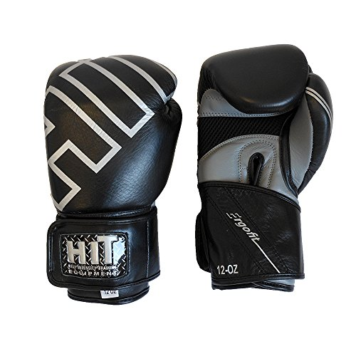 HIT SPARRING BOXING GLOVES PRO SERIES Black 16oz by HIT (Image #3)
