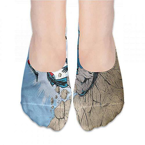 Funny Socks For Female Sox Superhero,Comic Style Villian Hero,socks for toddler boys -