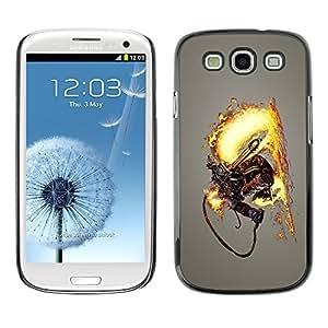 GagaDesign Phone Accessories: Hard Case Cover for Samsung Galaxy S3 - Flamethrower Skeleton Warrior