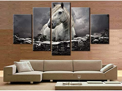 ZSNB Wall Pictures For Living Room 11 Rectangle Horse Home Decor