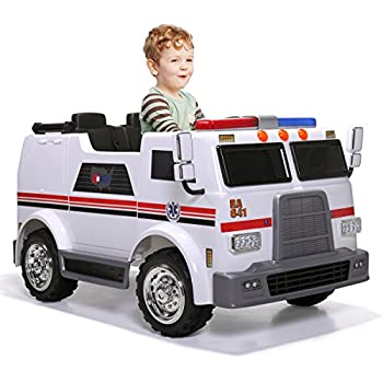 Amazon Com Jaxpety Ride On Car Kids Ambulance Truck