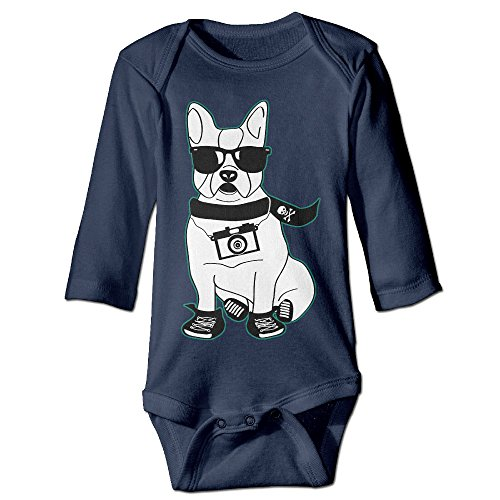 Bull Outfit (Baby Onesie Cool Photo Glasses French Bulldog Infant Clothes Infant Outfits Long Sleeve Bodysuit)