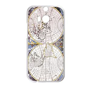 New Map of Earth White HTC M8 case