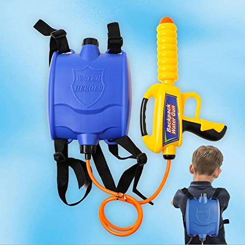 Billion Deals Children's Outdoor Party Beach Backpack Water Gun Pull-Type Water Gun Sprayer Toy with Large Capacity Summer Water Gun Kids Gift