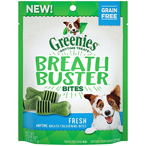 Greenies Breath Buster Bites Fresh Flavor Treats For Dogs 2.5 Ounces (Pack Of 6)