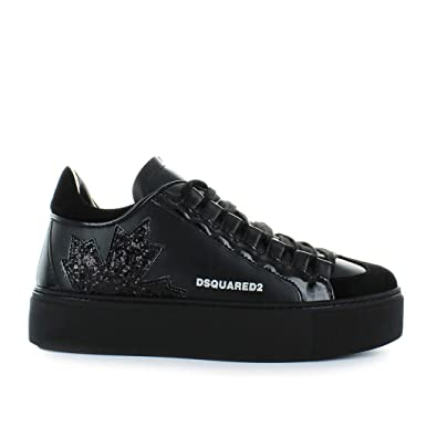 Women s Shoes Dsquared2 Canadian Team Black Sneaker Fall Winter 2019   Amazon.co.uk  Shoes   Bags b58c45fe8d8