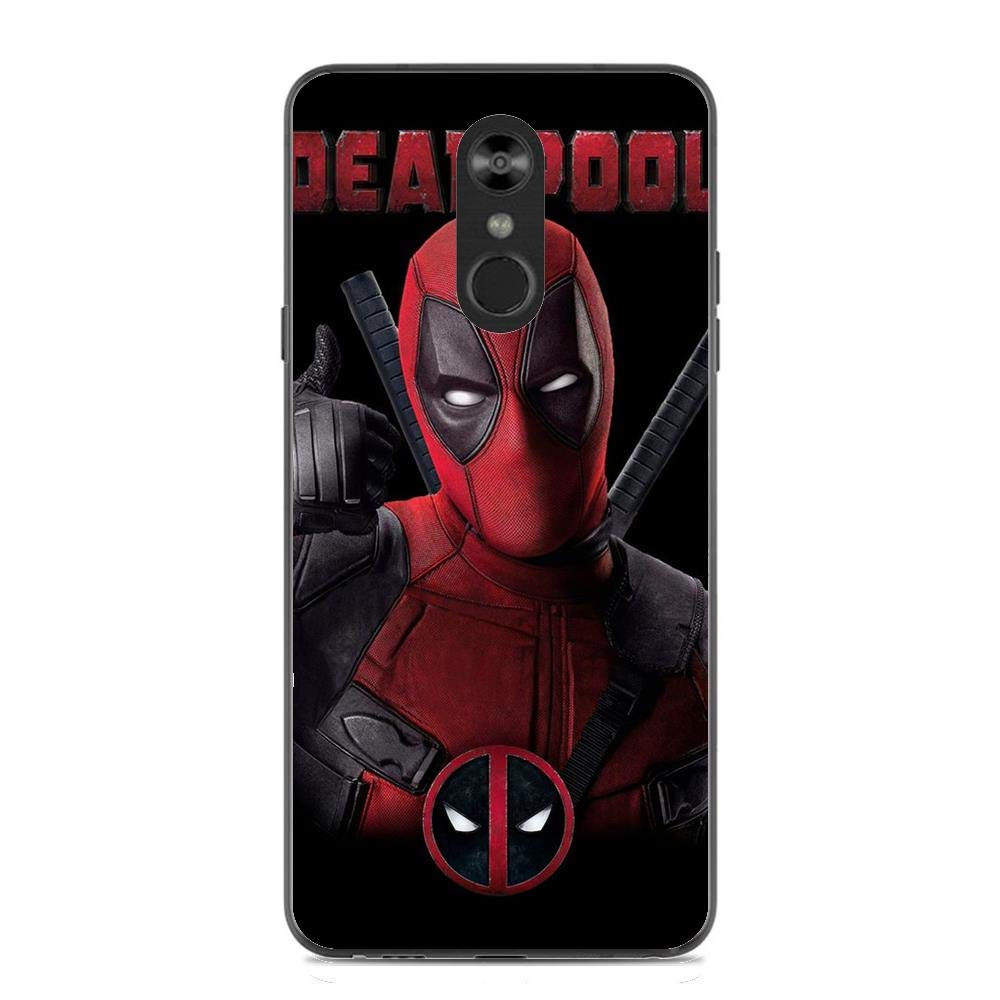 STYLO 4 Case,Transparent Soft TPU Protective Cover for LG STYLO 4-Deadpool 2