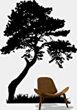 "Stickerbrand Nature Vinyl Wall Art Huge Tree Leaves Grass Wall Decal Sticker - Multiple Colors Available, 72"" x 54"". Easy to Apply & Removable."